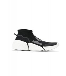KENZO BLACK K-SOCK SLIP ON SNEAKERS