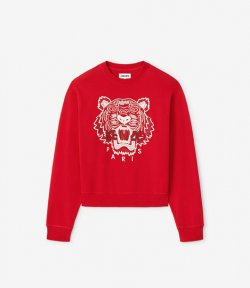 KENZO RED CLASSIC TIGER CREWNECK SW