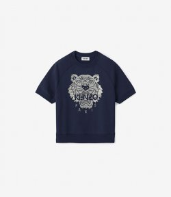 KENZO NEVY BLUE FULL EMBROIDRED SHORT SL