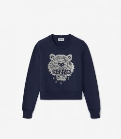 KENZO NAVY BLUE FULL EMBROIDERED SMALL SW