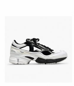RAF SIMONS RS REPLICANT OZWEEGO BLACK AND WHITE
